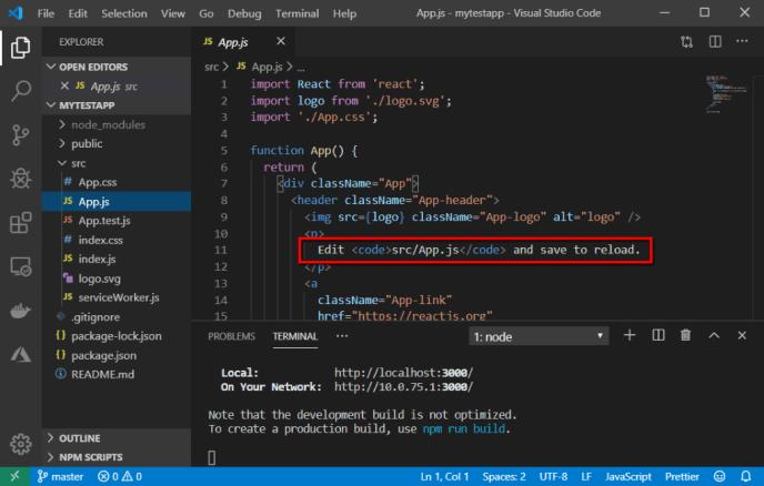app js code