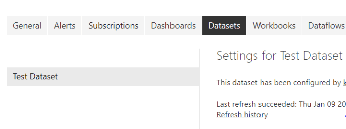 Datasets section
