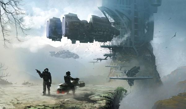 Landscape Science Fiction Art