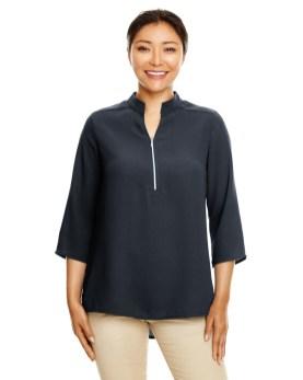 Devon & Jones Ladies' Perfect Fit™ 3/4-Sleeve Crepe Tunic Promotional Apparel