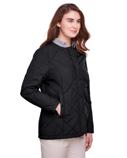 UltraClub® Ladies' Dawson Quilted Hacking Jacket (UC708W)