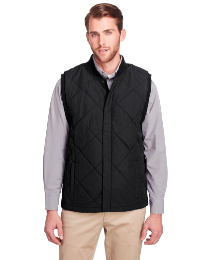 UltraClub® Men's Dawson Quilted Hacking Jacket Vest