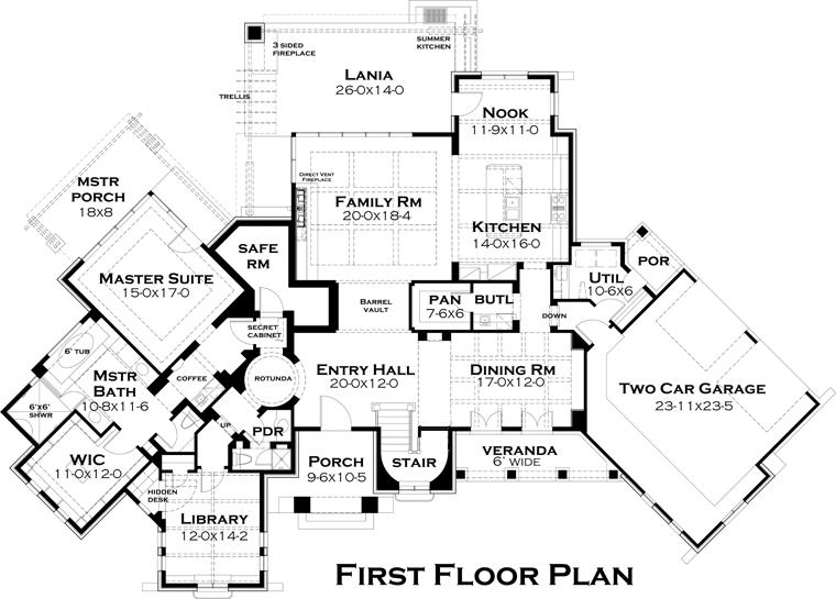 Italian Tuscan Floor Plan From ABG
