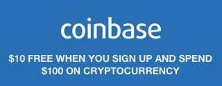 Coinbase cryptocurrency exchange $10 free when you spend $100