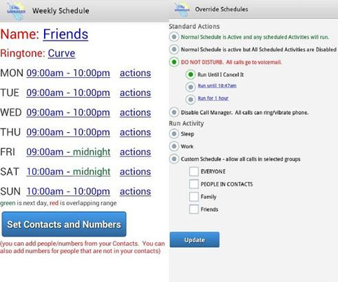Call Manager screenshot 2