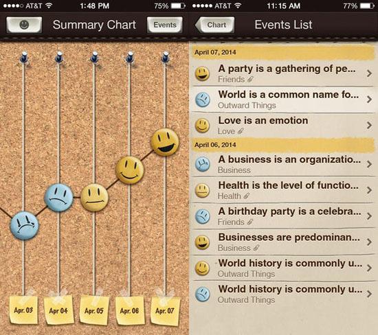 MoodBook screenshot 2