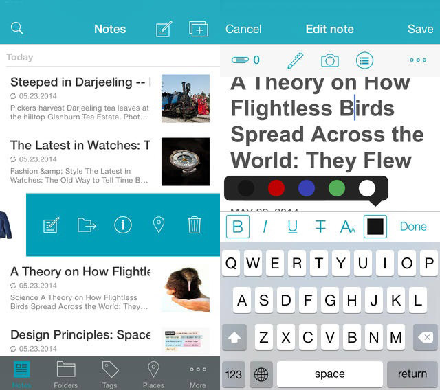 Nimbus Note app
