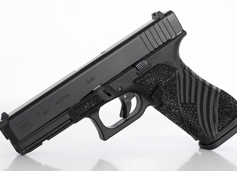 "Glock ""Tattered Flag"" Laser Stippling"