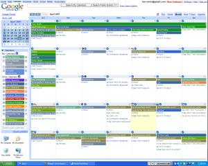 Example of Google Calendar