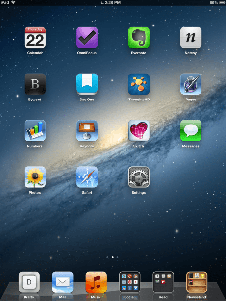 Vertical iPad Setup