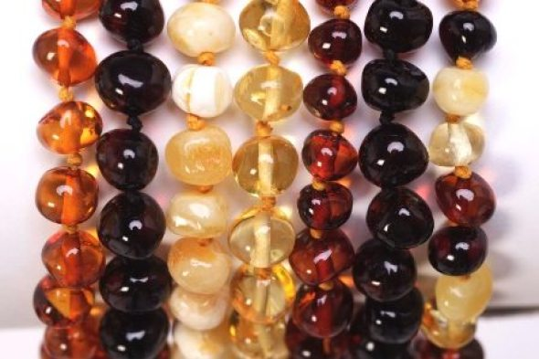 Image result for amber teething necklace colors, Amber Teething Necklace: Helpful or Hype? www.HaveCoffeeWillMom.com