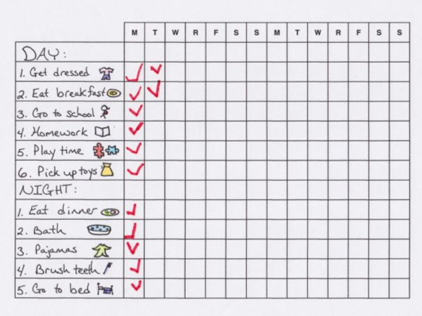 Make Morning and Bedtime Routines Easier with a Chart