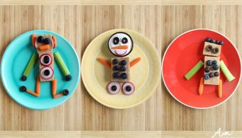 Craft and snack easy fruit art alpha mom do it yourself robot snacks for kids solutioingenieria Choice Image