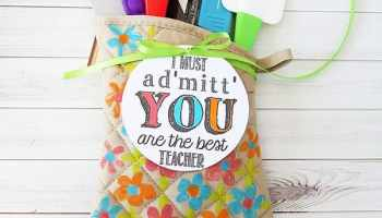 Back to school bucket of supplies teachers gift idea alpha mom admittedly the best teacher gift negle Image collections