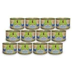 weide-lamm-400g-12er-sparpaket-getreidefreies-purinarmes-glutenfreies-hundefutter-dose-muskelfleisch-suesskartoffel-schwarzwurzel-rote-beete-preiselbeere-alpha-natural