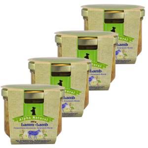 weide-lamm-200g-4er-testpaket-getreidefreies-purinarmes-glutenfreies-hundefutter-glas-muskelfleisch-suesskartoffel-schwarzwurzel-rote-beete-preiselbeere-alpha-natural