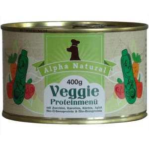 veggie-protein-400g-veganes-purinarmes-vegetarisches-getreidefreies-hundefutter-dose-gemuese-zucchini-karotte-kuerbis-apfel-erbsenprotein-reisprotein-alpha-natural