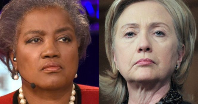 Image result for Donna Brazile and hillary