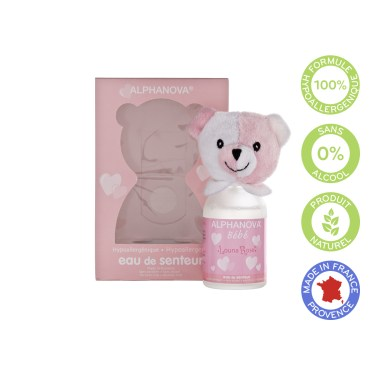 Louna rose scent, hypoallergenic fragrance-free - Alphanova baby