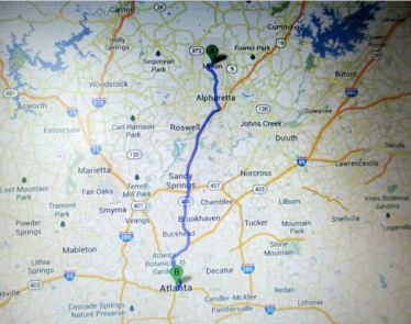 Milton Georgia Map Location From Atlanta GA