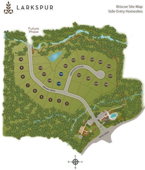 Alpharetta Ranch Homes Siteplan Larkspur Neighborhood