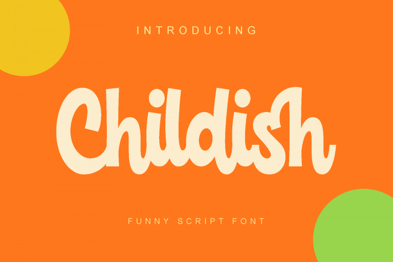 Preview image of Childish – Funny script handwritten font