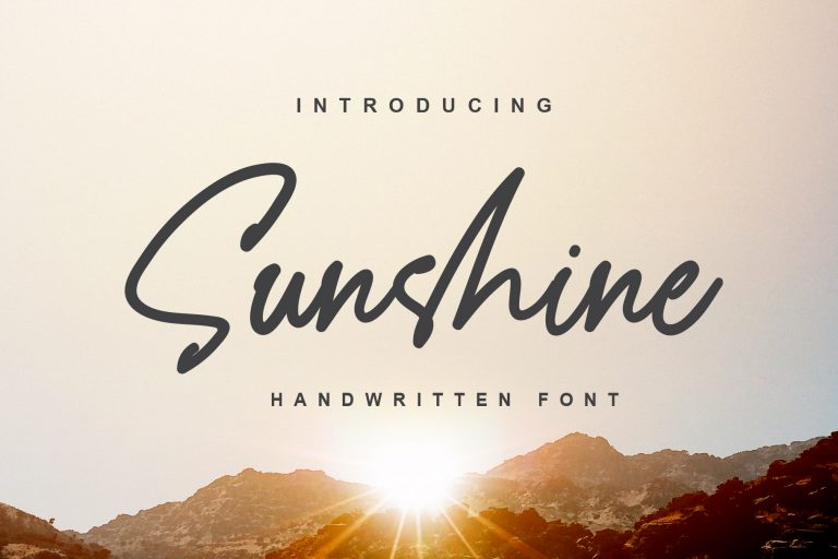 Preview image of Sunshine – a Handwritten Font