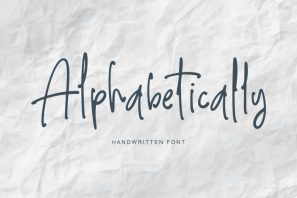 Alphabetically - handwritten font