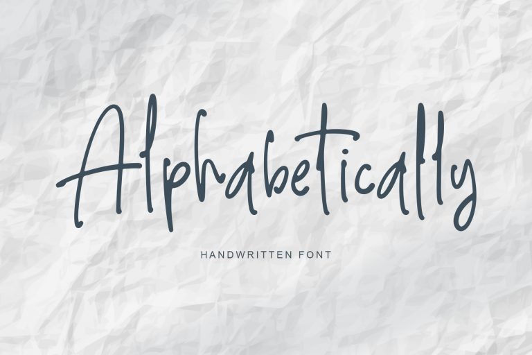 Preview image of Alphabetically – handwritten font