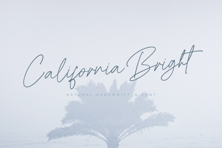 Preview image of California Bright – Natural handwritten font