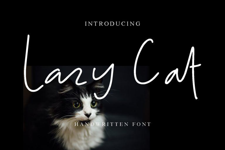 Preview image of Lazy Cat –  script handwritten font