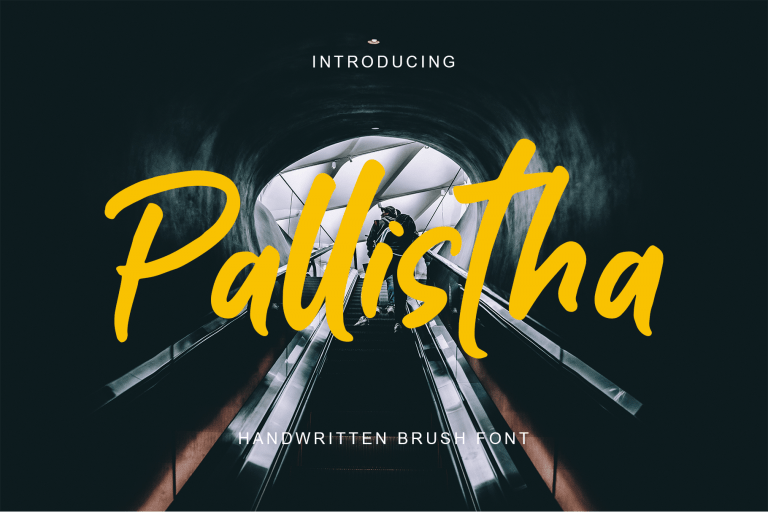 Preview image of Pallistha – handwritten font