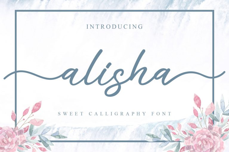 Preview image of alisha – sweet calligraphy font