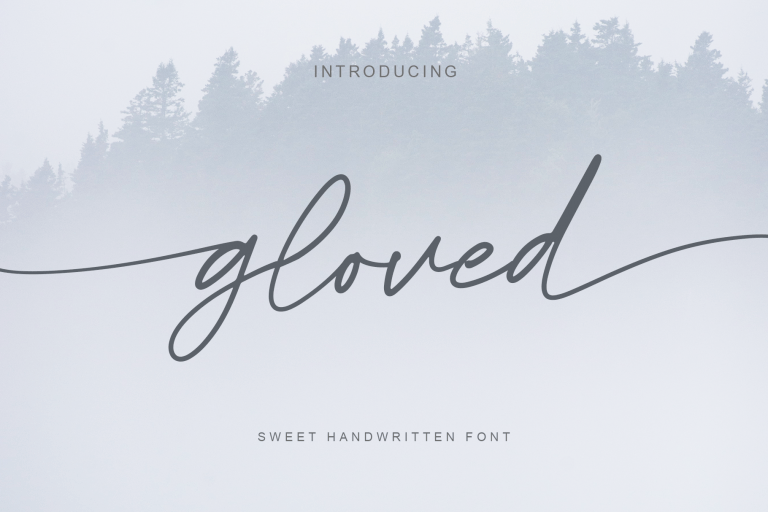 Preview image of gloved – sweet handwritten font