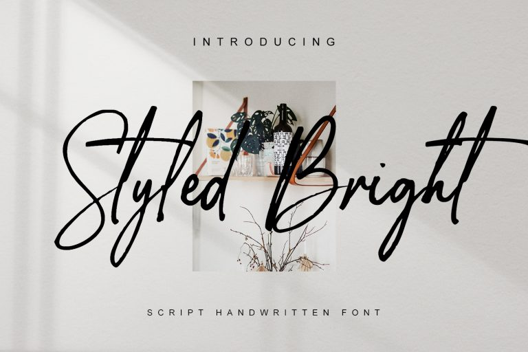 Preview image of Styled Bright – handwritten font