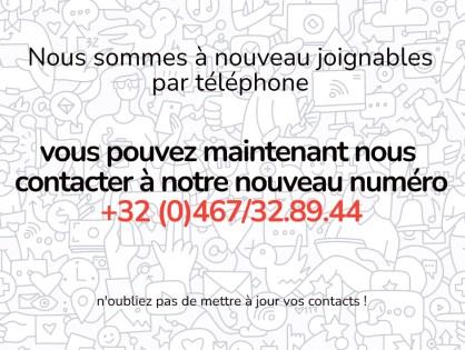 Nouveau numéro de téléphone