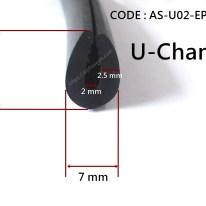 ซีลยางกันบาด U Channels 7X10 mm