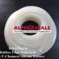 White Silicone Rubber Edge Trim Seals