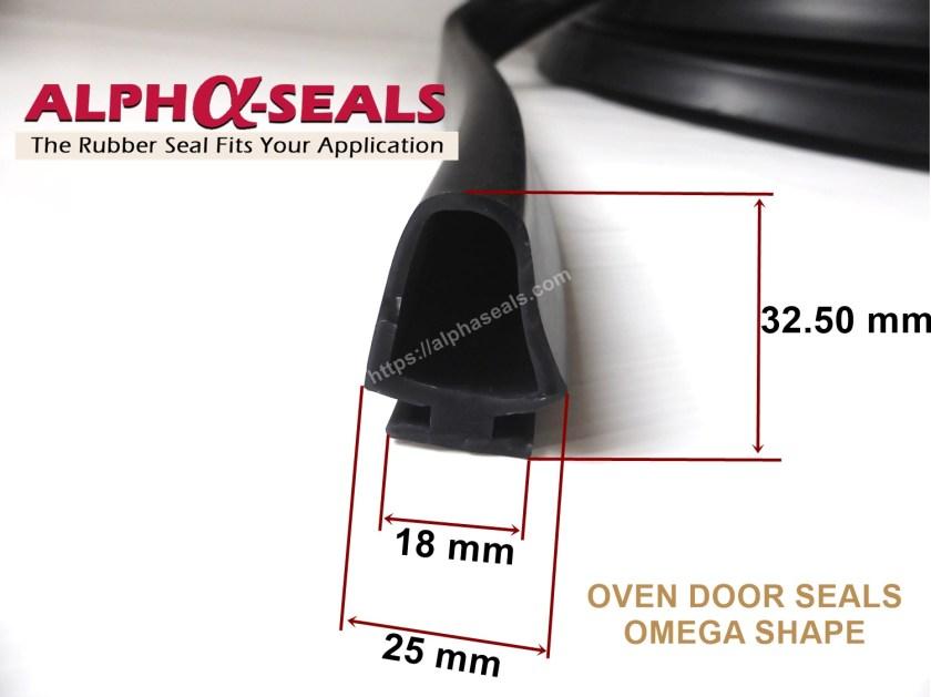 ซีลยางตู้อบ Omega Shape ทนความร้อนสูง.JPG