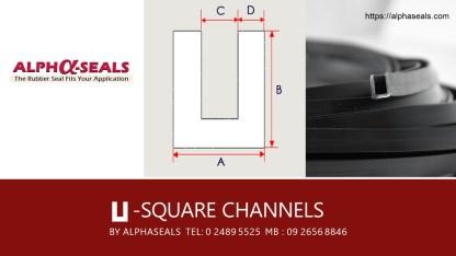 ผู้ผลิตและจำหน่าย ซีลยาง U-Square