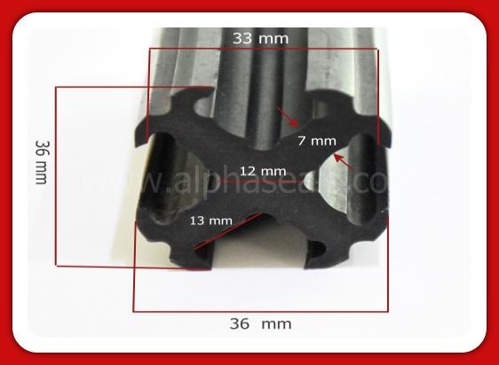 รับผลิตซีลยางโปรไฟลืร้อยสายไฟ 13 mm