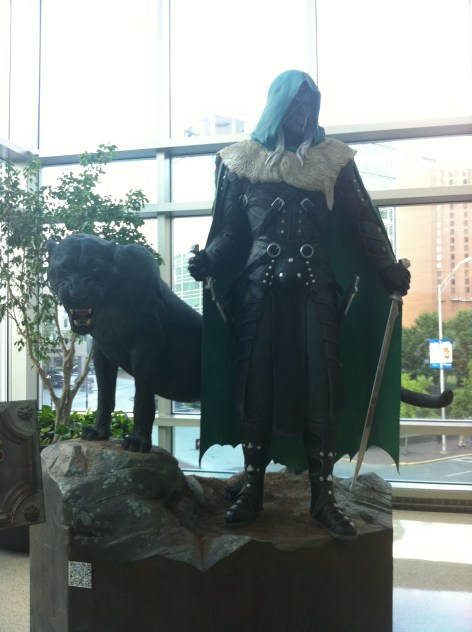 Life-sized Drizzt looked awesome!