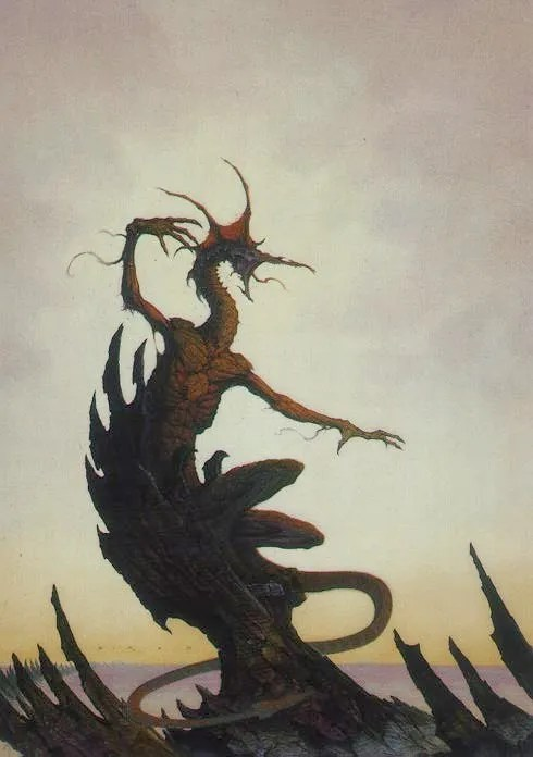 Borys the Dragon by Brom