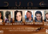 The cast of the Dune learn-to-play stream