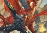 A dragon attacks a warrior in the Siege of Gardmore Abbey