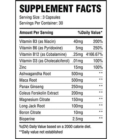 Supplement Facts Force X7