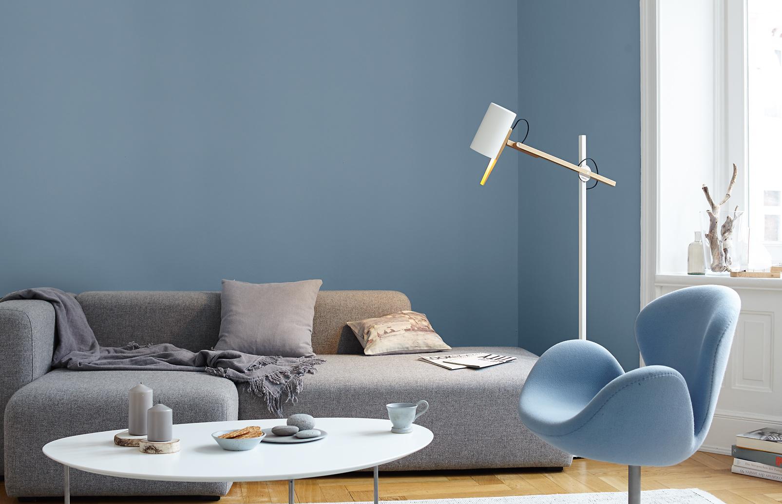 PremiumWandfarbe Blau graublau Alpina Feine Farben