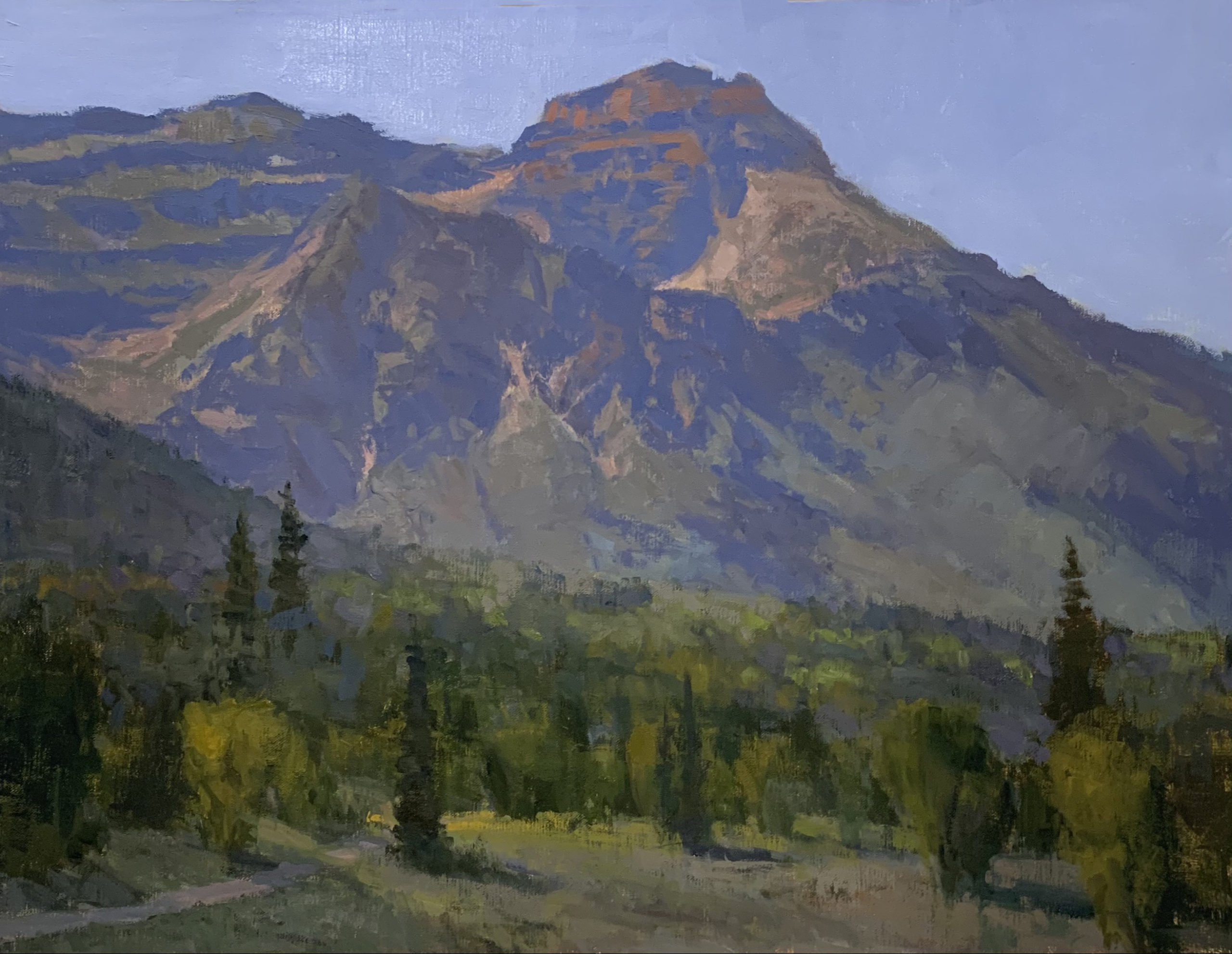Timpanogos, Alpine Loop, Oil landscape painting
