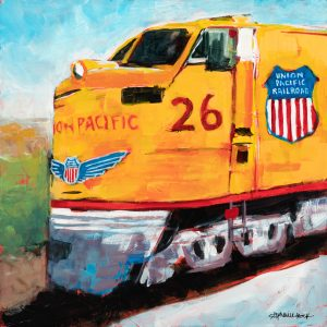 Acrylic painting, Union Pacific Railroad