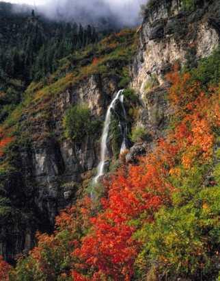 Stewart Cascades & Maples, Mt. Timpanogos Wilderness, Utah Uinta National Forest Wasatch Mountains near Sundance